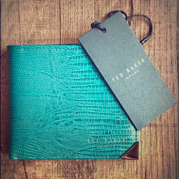 85c5283f0 Ted Baker Bi-fold Leather Wallet - Embossed Lizard